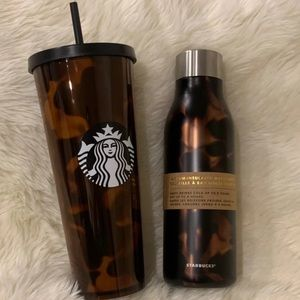 Starbucks Tumbler Tortoise Cup Bottle Cheetah New